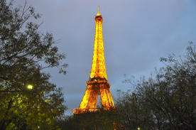 Sunsets and Eiffel tower lits up